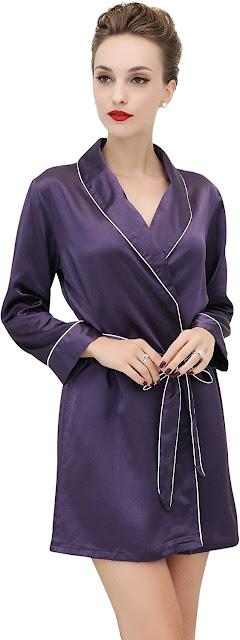 Good Quality Short Silk Robes For Women