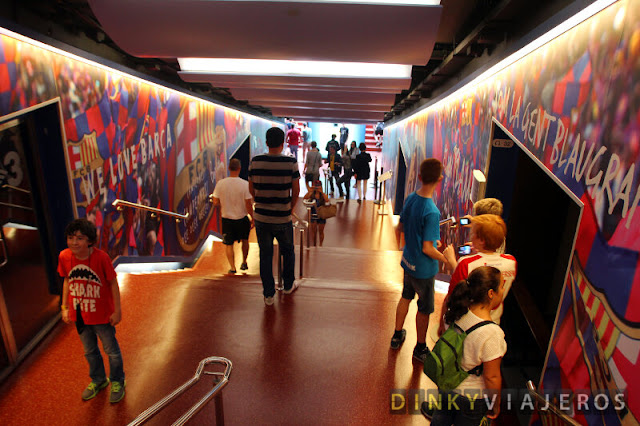 Tunel de vestuarios del Camp Nou