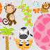 Clipart de Animales Bebés Celebrando Pascua.