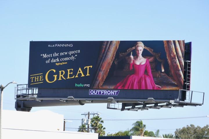 Elle Fanning Great Emmy FYC billboard