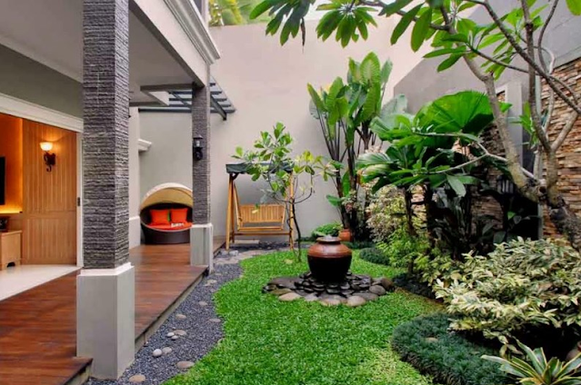 Menata Taman Depan Rumah sederhana