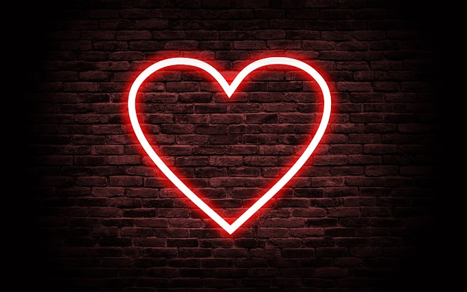 Papel de Parede Coração de Neon