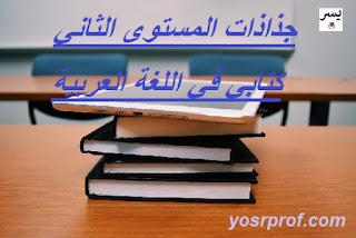 جذاذات المستوى الثاني كتابي في اللغة العربية  2019