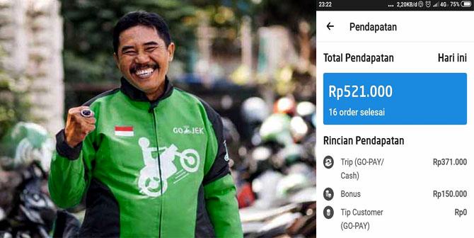 Berapa Penghasilan Gojek Selama Sebulan Apakah Memuaskan Ojek Online Gojek Grab Indonesia