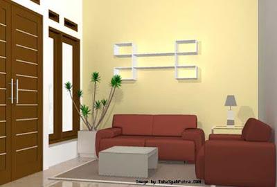 warna cat dinding bagus untuk ruang tamu