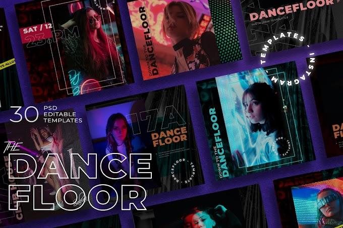 Creativemarket Dance Floor - Instagram Template 5111033