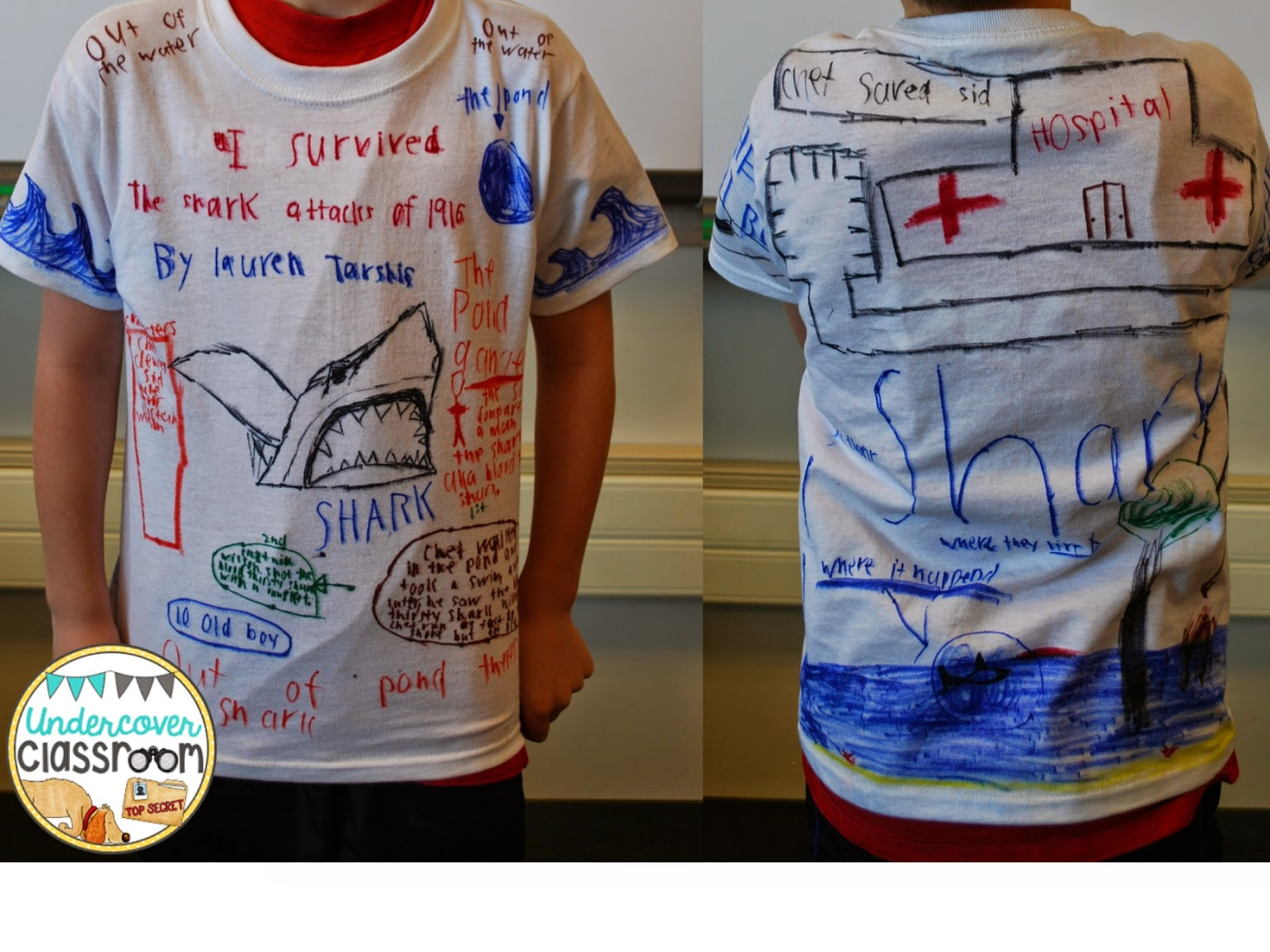 Undercover Classroom T Shirt Book Reports