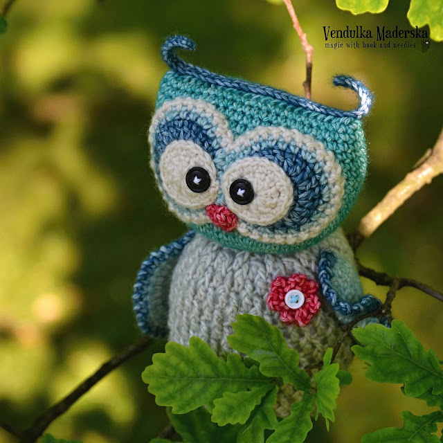 Crochet owl by Vendula Maderska
