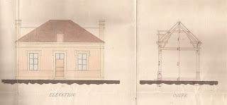 plan projet prespytère 1878 Corny eure 27