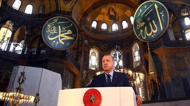 Προκαλεί το ψοφίμι ο Ερντογάν για την Αγία Σοφία: Ήσουν πάντα δική μας κι εμείς δικοί σου