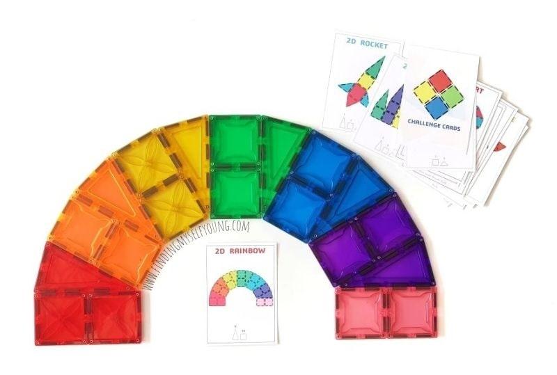 magblox rainbow challenge