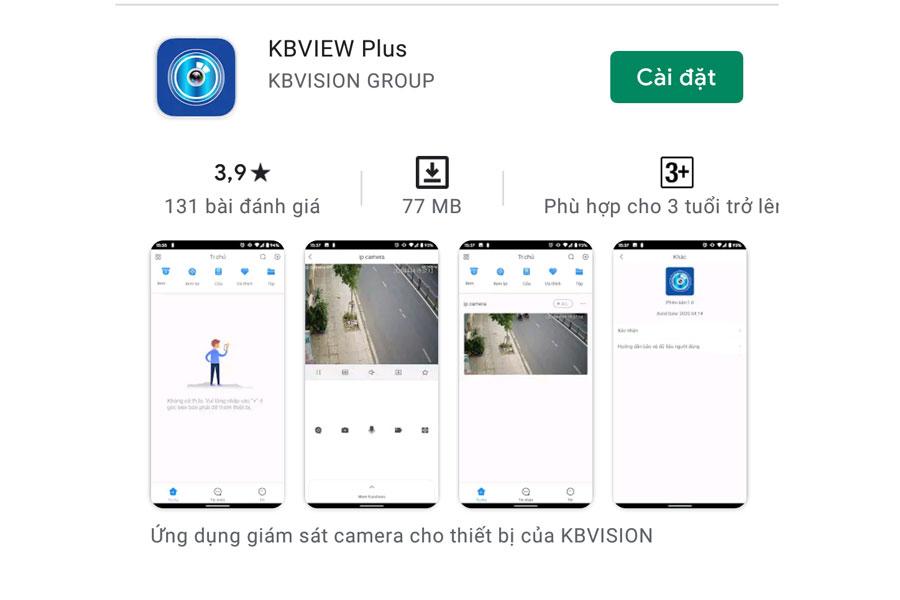 hướng dẫn tải ứng dụng kbview plus trên di động