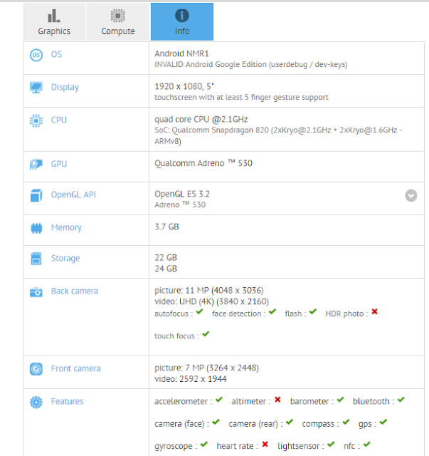 HTC Nexus Sailfish spotted on Geekbench