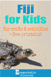 Learning about Fiji is fun and hands-on with these free crafts, ideas, and activities for kids! #Fiji #educational #teach #kids