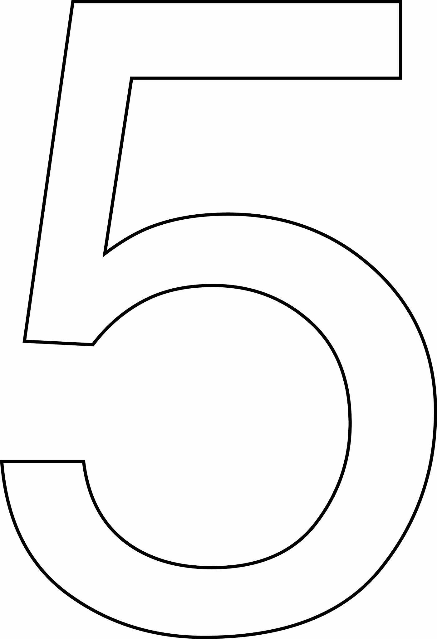Número 5 (cinco) para imprimir