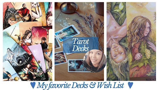 The Tarot & Oracle Decks I Use & Wish List I Mindset Unicorn YouTube Tarot Reader