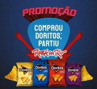 Cadastrar Promoção Doritos Ingressos Rock in Rio 2019 - 200 Pares de Ingressos