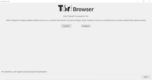 After Open TOR Browser