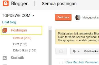 Cara mengganti permalink di blogger