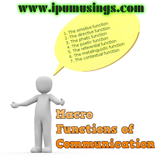BCA/MCA - Communication - Macro Functions of Communication