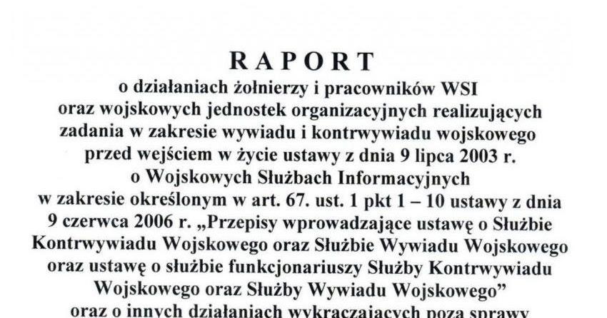 rapport macierewicza wsi pdf