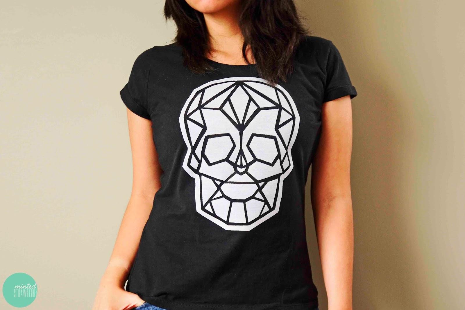 DIY: Geometric Skull Shirt - Minted Strawberry