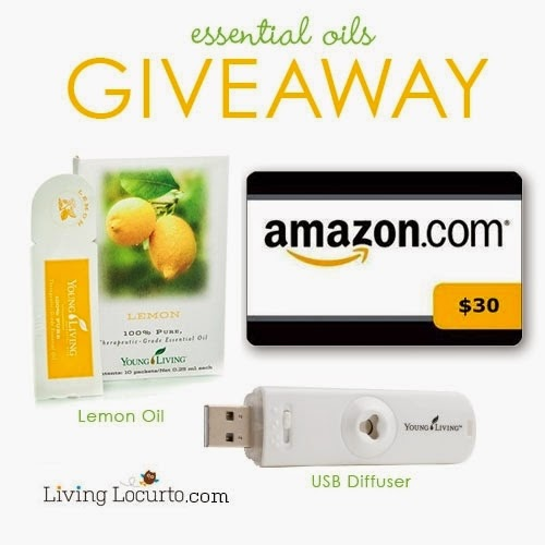 Win a USB Diffuser, Lemon Oil Samples and a $ 30 Amazon Gift Card