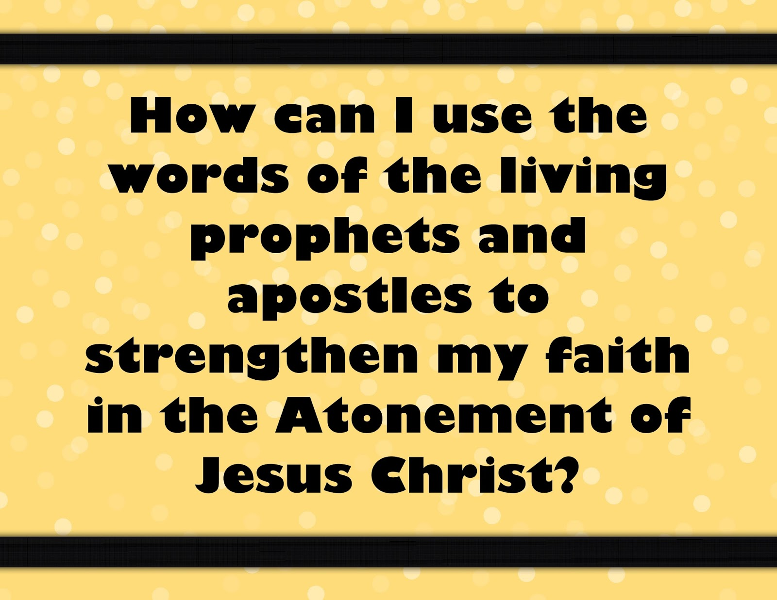 Tender Mercies Along The Journey March How Can I Use The Words Of Living Prophets And Apostles