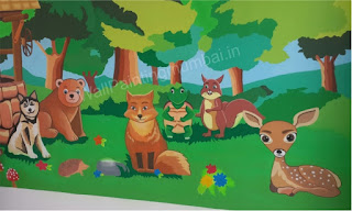 Play School Wall Mural | Wall Painting Ideas 2019