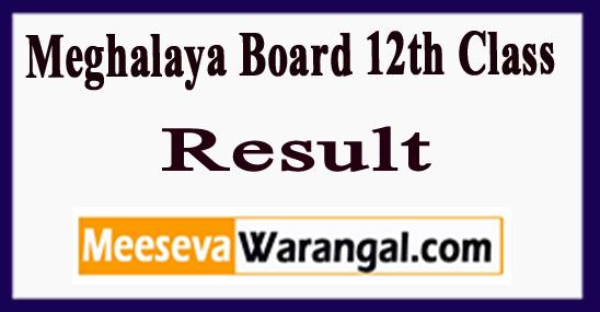 , Meghalaya Board 12th Class Result 2018