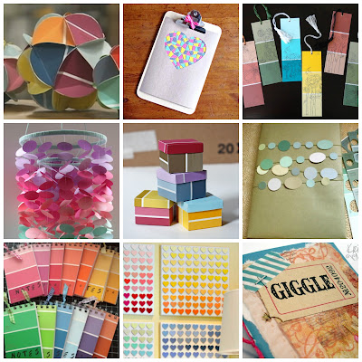 image nine ways to upcycle paint card chip samples tutorial diy upcycling roundup 9
