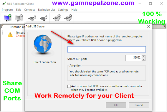 USB Redirector and USB Redirector Client Version 6.1[Share COM Ports Remotely]