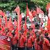 Tolak  UU Omnibus Law, FSBKU-KSN Sambangi DPRD Metro