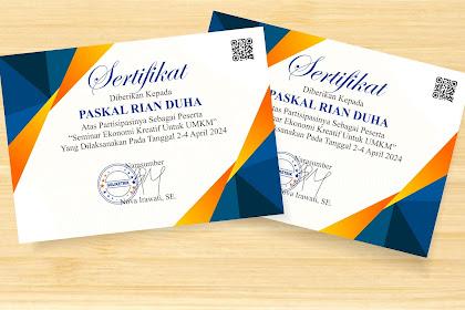 Download Sertifikat Seminar Format CDR- Gratis Dan Mudah Edit
