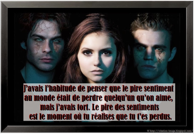 citations vampire diaries amour
