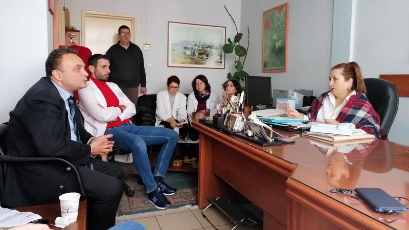 Επίσκεψη Σταύρου Κελέτση στον ΕΦΚΑ και στο Κέντρο Υγείας Αλεξανδρούπολης
