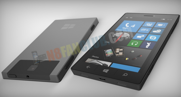 Render Image: Surface Phone with Windows Phone 8 OS