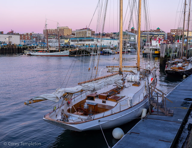 Portland, Maine Photo by Corey Templeton September 2021 The Wendameen schooner berthed at the Maine State Pier.