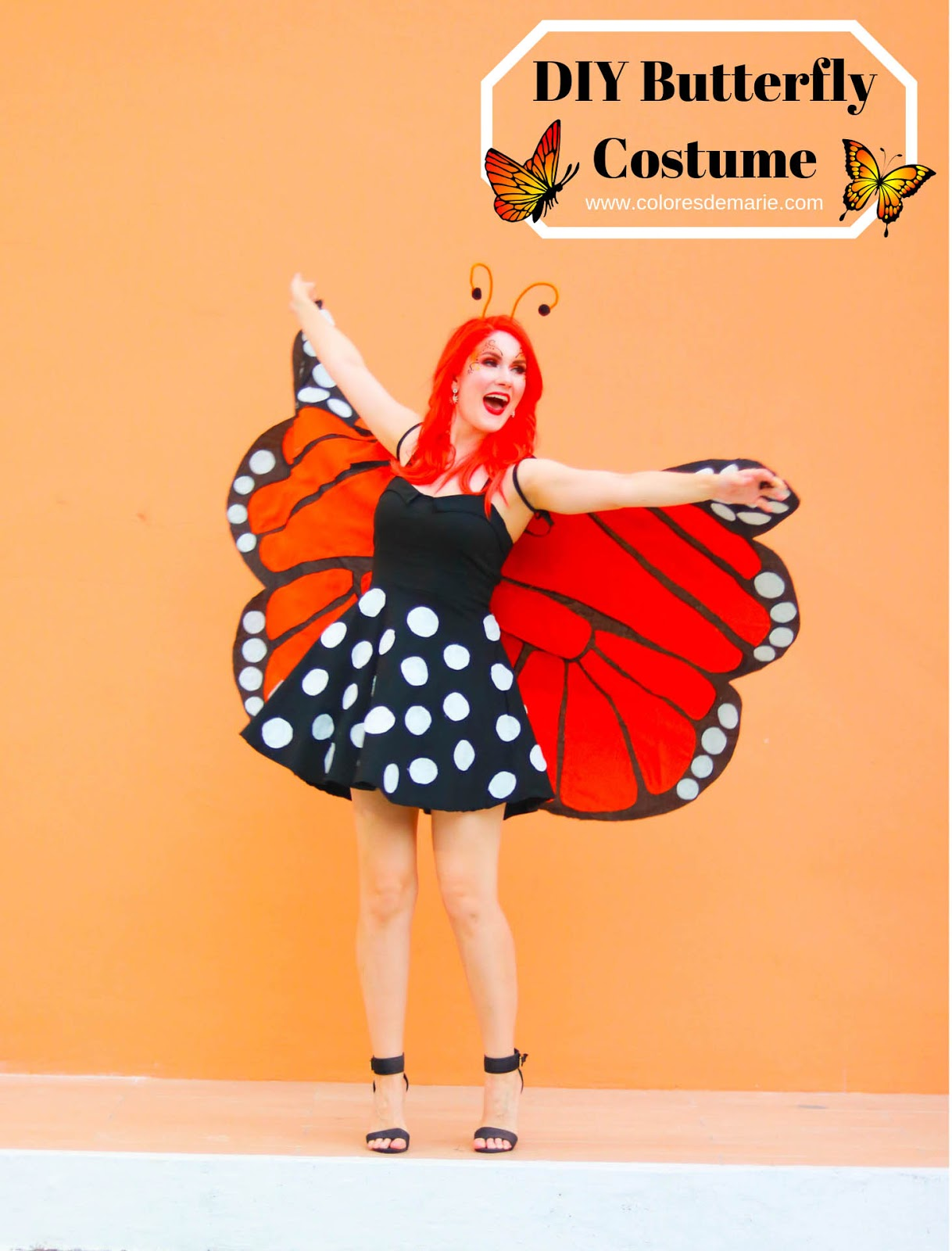DIY Homemade Butterfly Costume Tutorial - Easy and cheap!