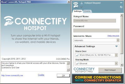 Connectify Hotspot Pro 3.6.0.24540 With Serial