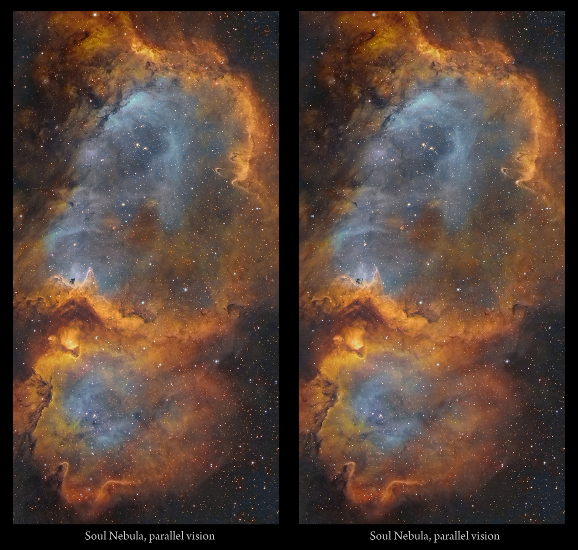 Astro Anarchy Soul Nebula Ic 1848 As An Experimental 3d Stereo Image Pair