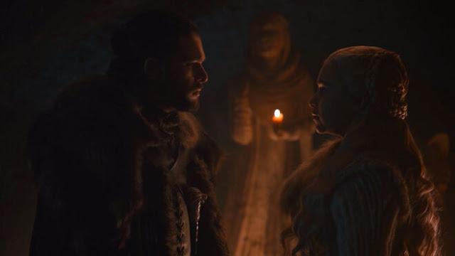 juego de tronos 8x02 Jon y Daenerys