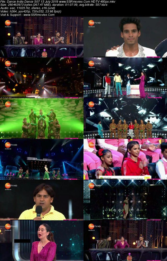 Dance India Dance S07 13 July 2019 HDTV 480p Full Show Download