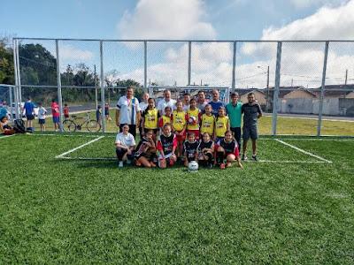 Prefeitura de Registro-SP inaugura Quadra de Futebol Society
