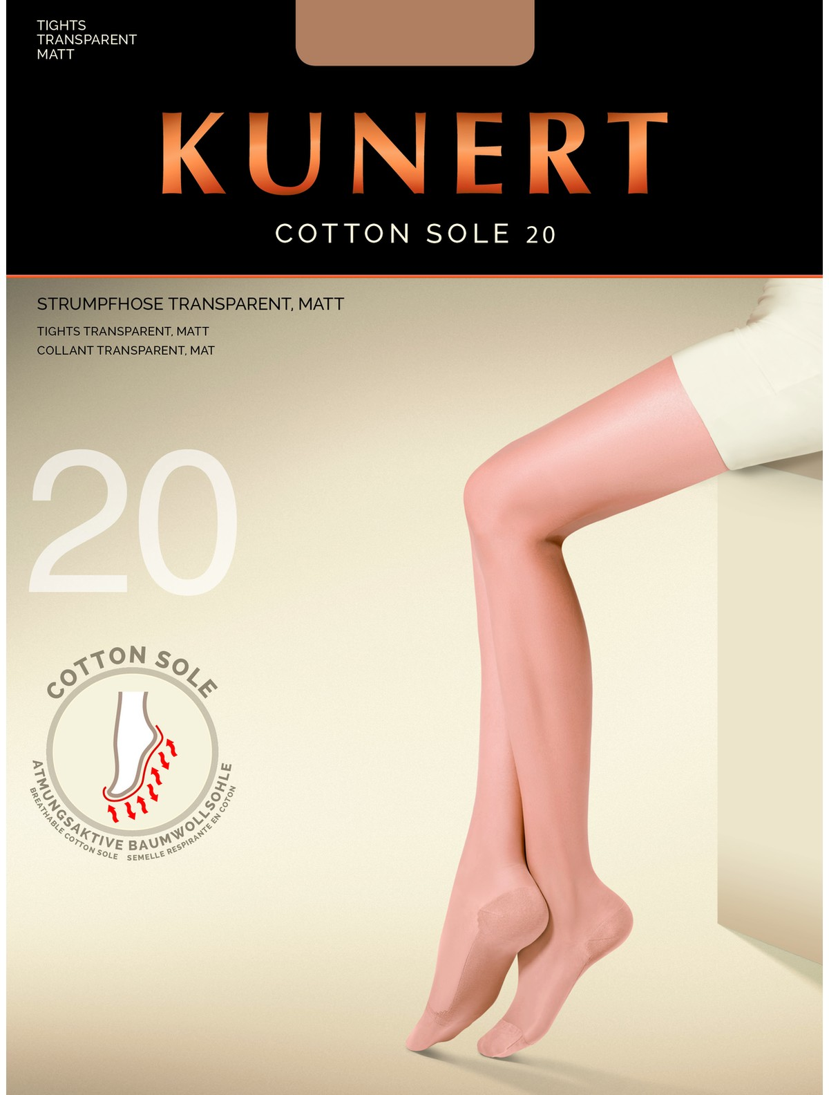 bc812f74d Recently released and available from Hosieria these innovative 20 denier  tights are a welcome addition to Kunert s extensive range of products.