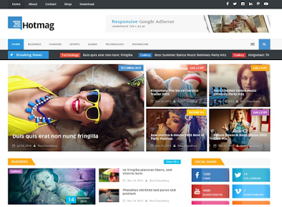Hot Mag Blogger Template | Blogger Templates Gallery , Hotmag Responsive Blogger Template , Hotmag Responsive Blogger Template Free Download , Hot mag Responsive Blogger Template • Blogspot