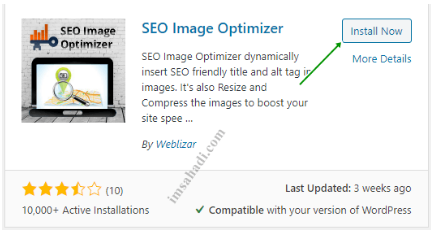 instal Plugin SEO Image Optimizer