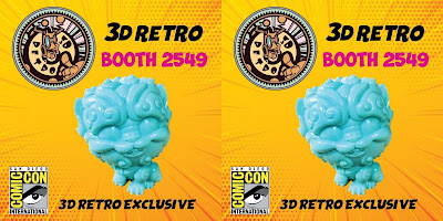 San Diego Comic-Con 2019 Exclusive Shi-Shi the Tiny Guardian Tiffany Blue Sofubi by Bigshot Toys x 3DRetro