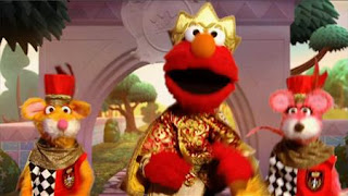 Elmo the Musical Prince Elmo the Musical, two royal mice guards, Sesame Street Episode 4326 Great Vibrations season 43