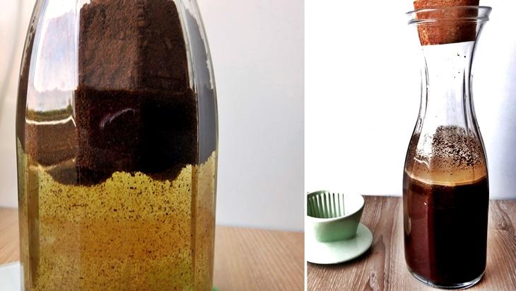 Bilder zur Zubereitung von Coldbrew KAffee
